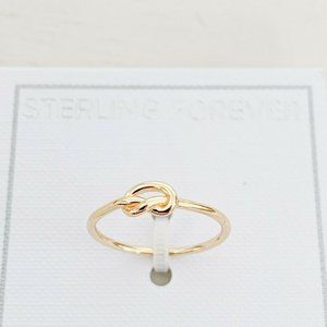 NWT | Sterling Forever Love Knot Ring 14K Size 6
